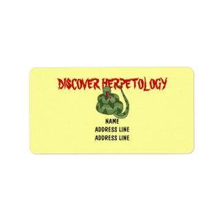 Cute Snake Lover Rattlesnake Herpetology Label