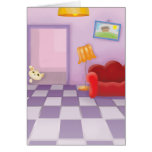 cute sneaky lil kitty cat greeting card