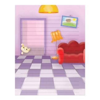 cute sneaky lil kitty cat letterhead