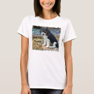 Cute Snoopy Beagle Puppy - Hug MePlease T-Shirt