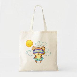Cute Snorkeling Bear Tote Bag