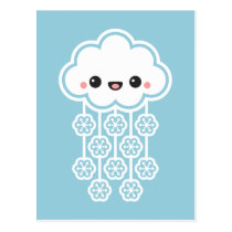 Cute Snow Cloud Postcard