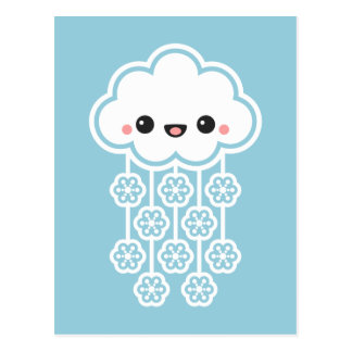 Cute Snow Cloud Postcard