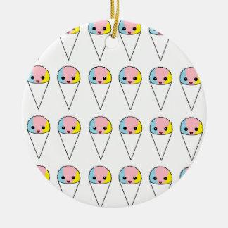 Cute Snow Cones Ceramic Ornament