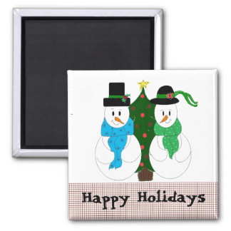 Cute Snow Couple Magnet