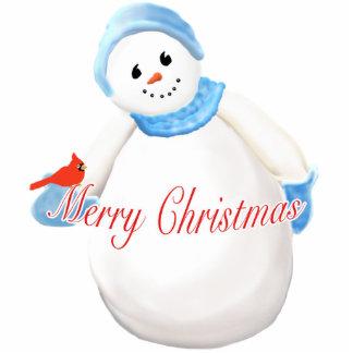 Cute Snow Girl Merry Christmas Ornament