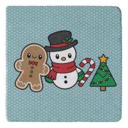 Cute Snow Pals trivet