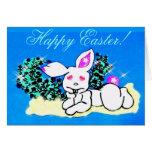 ♫☆♥Çütê Snow SnuggleBunny HappyEaster Card๑¦☆♥♪ Cards