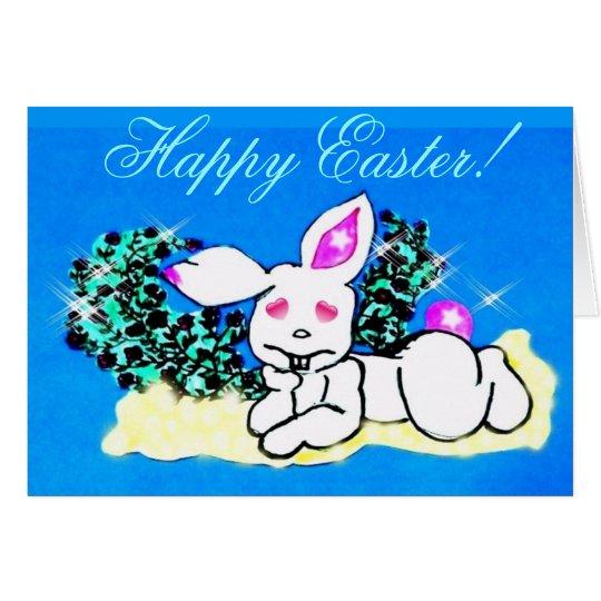 ♫☆♥Çütê Snow SnuggleBunny HappyEaster Card๑¦☆♥♪ Card