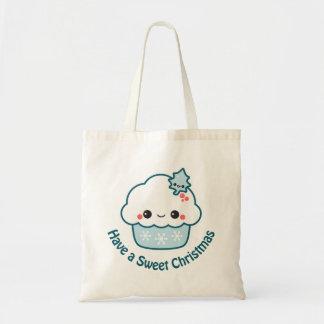 Cute Snowflake Cupcake Tote Bag