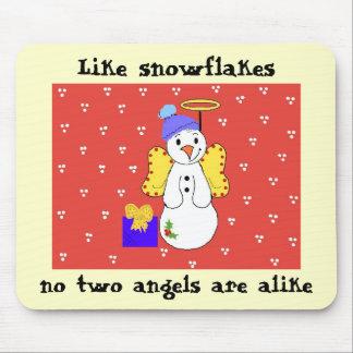 Cute Snowflake Saying Mouse Pad