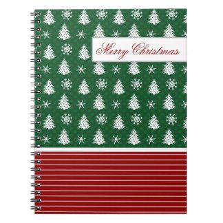 Cute Snowflakes & Christmas Trees Notebook