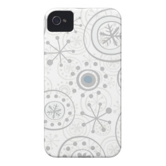 cute snowflakes gray and blue iPhone 4 covers