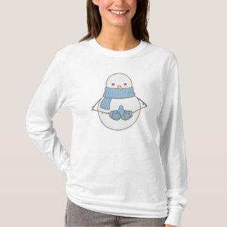 Cute Snowman and Blue Bird T-Shirt