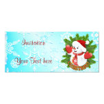 Cute Snowman and Crystal Snowflakes Invitation