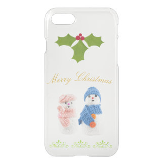 Cute Snowman and Snow woman iPhone 7 Case