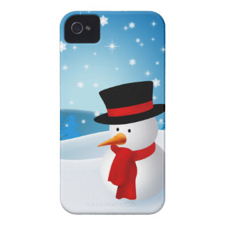 Cute Snowman Barely There™ iPhone 4 Case