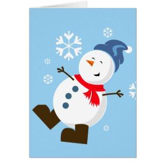 Cute Snowman Card Card