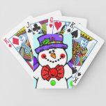 Cute Snowman Card Decks