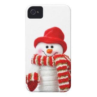Cute Snowman iPhone 4 Case-Mate Cases