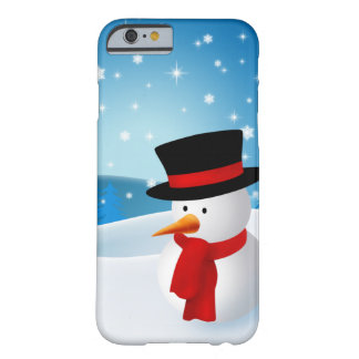Cute Snowman Barely There iPhone 6 Case