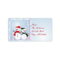 Cute Snowman Christmas Address labels