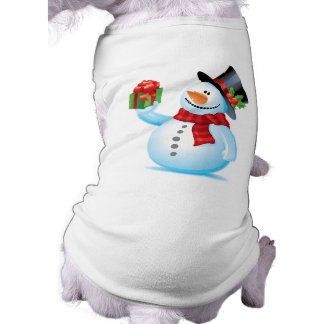 Cute Snowman Christmas Dog t-shirt