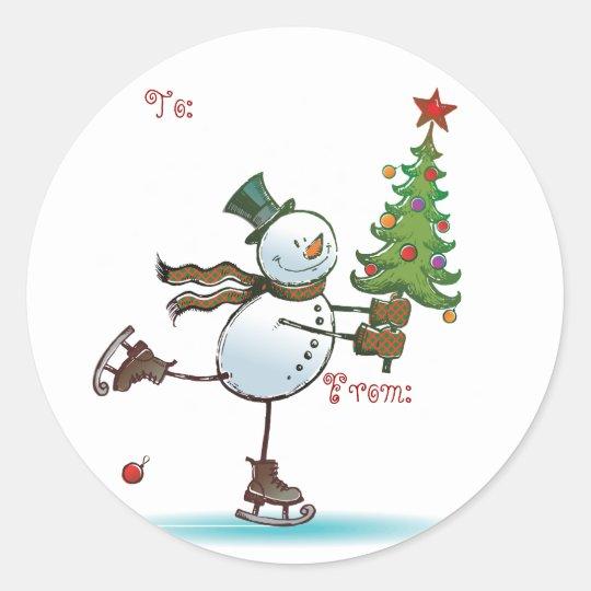 Cute Snowman Christmas Gift tags | Zazzle.com