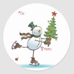 Cute Snowman Christmas Gift tags Sticker
