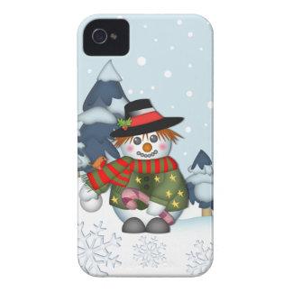 Cute Snowman Christmas iPhone 4 case