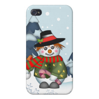 Cute Snowman Christmas iPhone 4 speck case iPhone 4 Cases