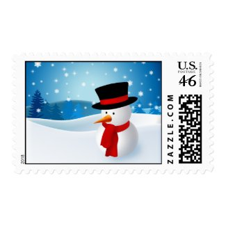 Cute Snowman Christmas Postage