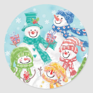 Cute Snowman Christmas sticker