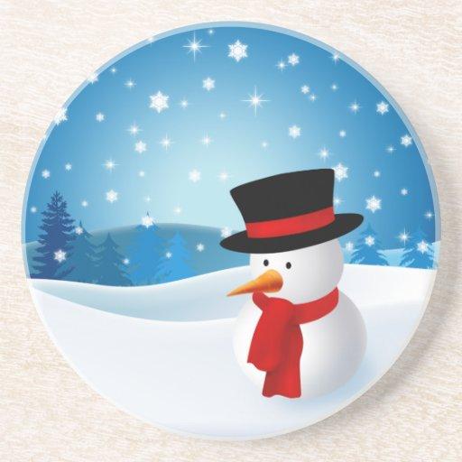Cute Snowman Coaster Zazzle