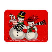 Cute Snowman Couple Magnet