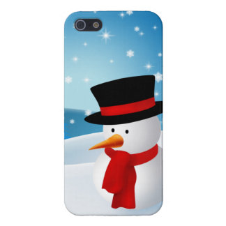 Cute Snowman Cover For iPhone SE/5/5s