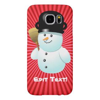 Cute Snowman Custom Cartoon Samsung Galaxy S6 Case