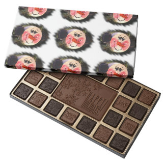 Cute Snowman Face 45 Piece Assorted Chocolate Box