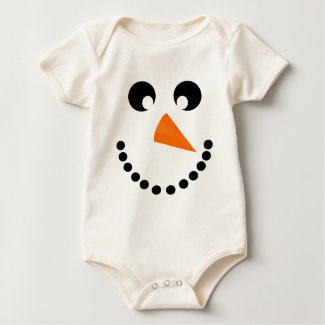 Cute Snowman Face Baby Costume Baby Bodysuit