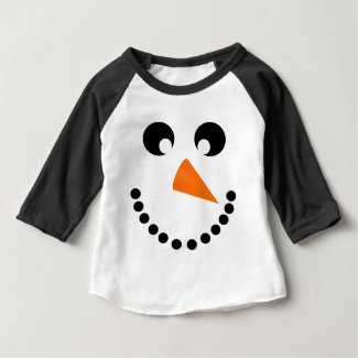 Cute Snowman Face Baby Costume Baby T-Shirt