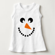 Cute Snowman Face Baby Costume T-shirts