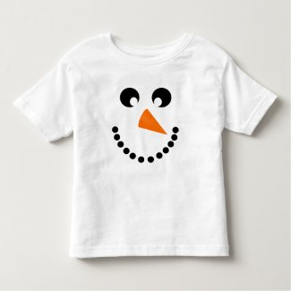 Cute Snowman Face Baby Costume Toddler T-shirt