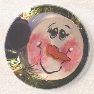 Cute Snowman Face Coaster
