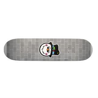 cute snowman face custom skate board