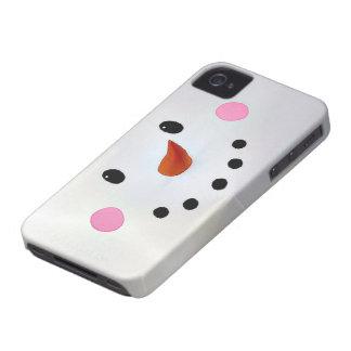 Cute snowman face iPhone 4 case