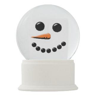 Cute Snowman Face Winter Holiday Snow Globe