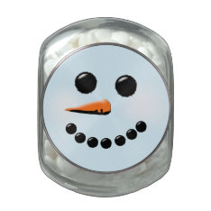 Cute Snowman Face Winter Holiday Snowmen Jelly Belly Candy Jars at Zazzle