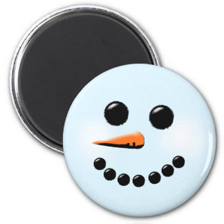 Cute Snowman Face Winter Holiday Snowmen Magnet