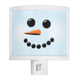 Cute Snowman Face Winter Holiday Snowmen Night Light