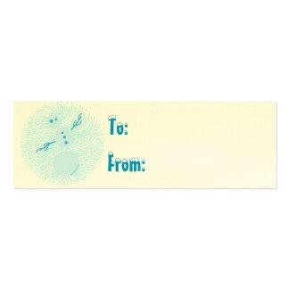 Cute Snowman Fun Winter Holiday Christmas Gift Tag Mini Business Card